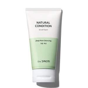 The Saem Natural Condition Scrub Foam [Deep pore cleansing] 150ml