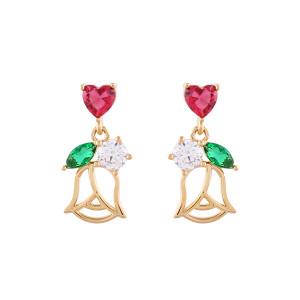 Noonoo fingers Heart Tulip Earring