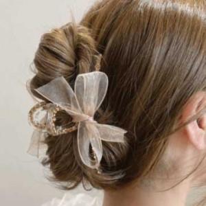 [R] Byladies Jeweled Ribbon Twist Hair Pin 1ea