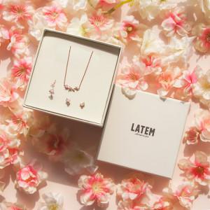Latem Pink Blossom  Jewelry Set