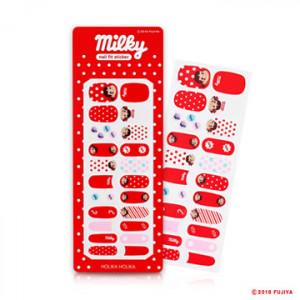 HOLIKA HOLIKA [Sweet Peko] Peach Matching Nails Nail-fit Sticker 1ea