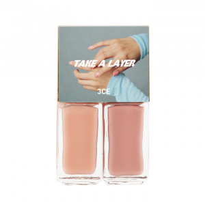 STYLENANDA 3CE Take a Layer Layering Nail Lacquer [#Rolling Rose] 4ml*2ea