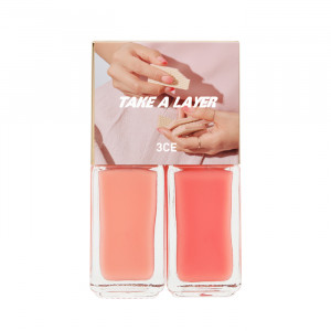 STYLENANDA 3CE Take a Layer Layering Nail Lacquer [#Last Pink] 4ml*2ea