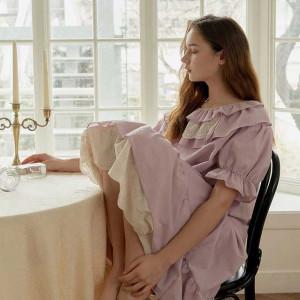 [R] ULLALA PAJAMAS [WOSX21128V] Laili short sleeve dress - Lavender