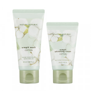 Nature Republic Cotton Armpit Kit (Wash 80ml + Cream 50ml)