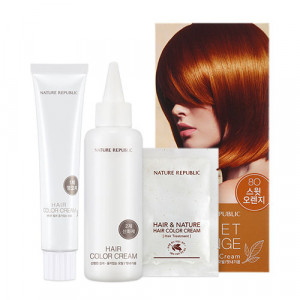 NATURE REPUBLIC Hair & Nature Hair Color Cream For Nice (8O Sweet Orange) 120g