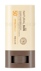 THE FACE SHOP Natural Sun Eco Clear Sunscreen Stick SPF50+ PA++++ 20g