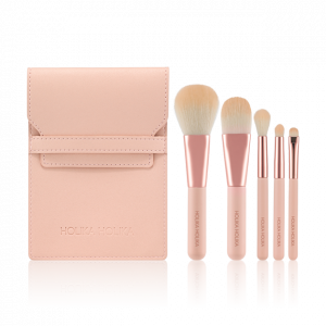 HolikaHolika Holi Nudrop MINI VEUSH SET (19 S/S COLLECTION) Brush 5ea + pouch 1ea