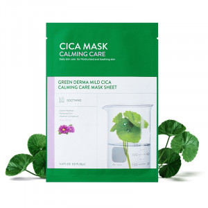 Nature Republic Green Derma Mild Cica Calming Care Mask Sheet 25ml