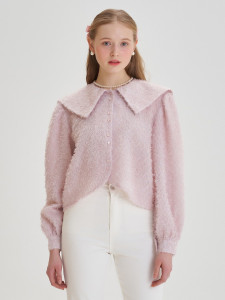 [R] Letter From Moon Glitter Sailor Collar Blouse [Baby Pink] 1pcs