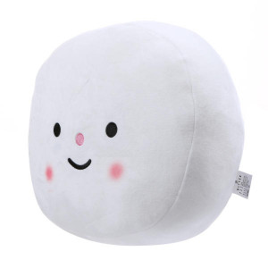 [R] BUTTER Mochi-mochi Cushion White Large 1p