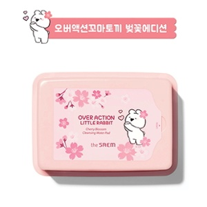 The Saem [Over Action Little Rabbit] Healing Tea Garden Cherry Blossom Cleansing Water Pad 25pcs