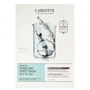 LABIOTTE Marryeco Porecare Sheet Mask With Teatree 22ml*10ea