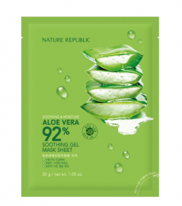 Nature Republic Soothing and Moisture Aloe Vera 92% Soothing Gel Mask Sheet 1ea