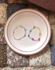 [R] Rowky flower shower beads bracelet 1pcs