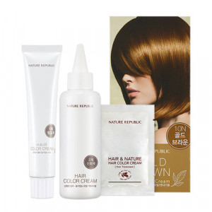 NATURE REPUBLIC Hair & Nature Hair Color Cream For Nice (10N Gold Brown) 120g