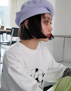 [R] Rowky summer knit beret 1pcs