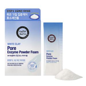 Happy Bath White Clay Pore Enzyme Powder Foam 30ea