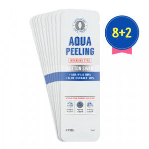 APIEU Aqua Peeling Cotton Swab Intensive Set 8+2 3ml*10ea