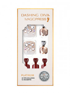 Dashing Diva [Platinum] Premium Magic Press Pedicure - Red Shine