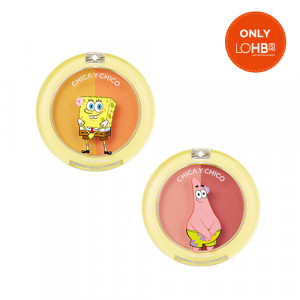 Chica Y Chico  [SPONGEBOB LTD] One Happy One Touch Duo Blusher 5g