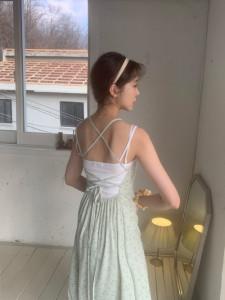 [R] Femmemuse BACK STRAP FLORAL SLIP DRESS 1pcs