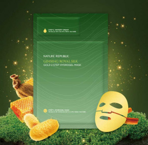 Nature Republic Ginseng Royal Silk Gold  2Step  Hydrogel Mask (Hydrogel 34.5g+Watery cream1g)1ea