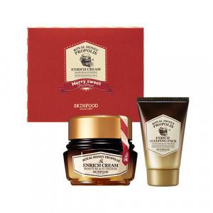 Skinfood Royal Honey Propolis Enrich Cream [Holiday Edition]] 63ml + 40ml