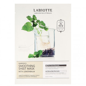 LABIOTTE Marryeco Soothing Sheet Mask With Lemonbalm 22ml