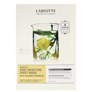 LABIOTTE Marryeco Deep Moisture Sheet Mask With Evening Primrose 22ml*10ea