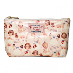 Etude House Oil Cloth Pouch M [Beige pattern] 1EA
