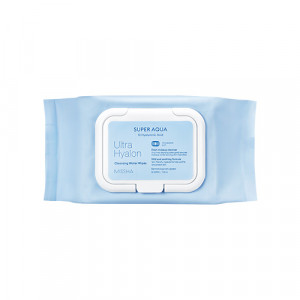 Missha Super aqua ultra hyalron Cleansing Water Tissue 30sheets/ 139ml