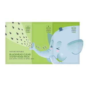 Nature Republic BlackHead Clear 3 Step Nose Pack 3g+0.2g+3g
