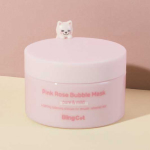 TONYMOLY [Bling Cat] Pink Rose Bubble Mask 80ml