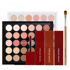 Nature Republic [Thanksgiving Set] Pro Touch Color Master Shadow Palette Spring Collection 30Color / Cheeky Salvia Set