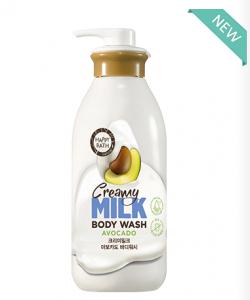 Happy Bath Creamy Milk Avocado Body Wash 730g
