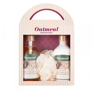 Missha Oatmeal Enrished Body Special Set 310ml+310ml+1ea