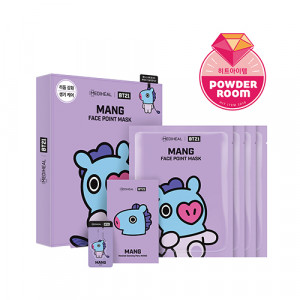 MEDIHEAL x BT21 MANG Face Point Mask 20ml*4ea