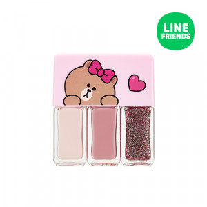 MISSHA (Line Friends Edition) Self Nail Salon Nail Kit 4ml*3ea