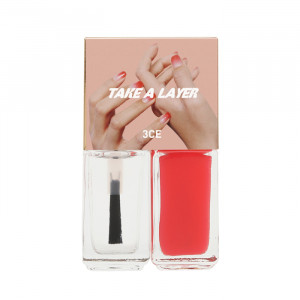 STYLENANDA 3CE Take a Layer Layering Nail Lacquer [#Pure Red] 4ml*2ea