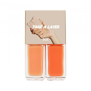 STYLENANDA 3CE Take a Layer Layering Nail Lacquer [#Soft Orange] 4ml*2ea