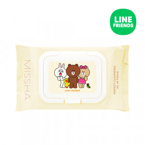 MISSHA (Line Friends Edition) Super Aqua Perfect Cleansing Oil In Tissue 200ml/30pcs