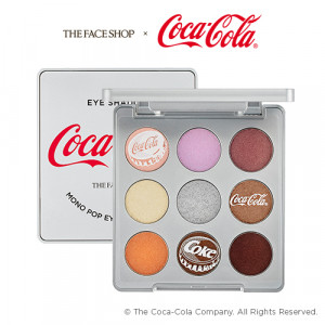 The Face Shop Mono Pop Eyes - Coca Cola 02 Coke Silver 5.4g