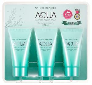 Nature Republic Super Aqua Max Combination Watery Cream (Tube) 50ml*3ea