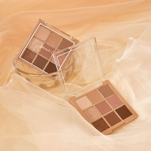 PeachC Soft Mood Eyeshadow Palette Brown 10g
