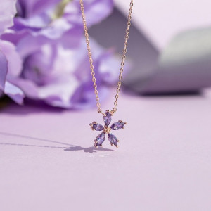 [R] Wingbling Lavender Bloom 3 Necklace 1pcs