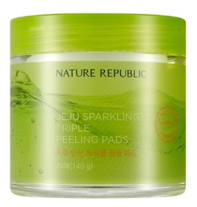 Nature Republic Jeju Sparkling Triple Peeling Pads 70ea