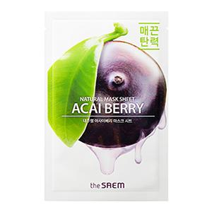 THE SAEM Natural Acai Berry Mask Sheet 21ml