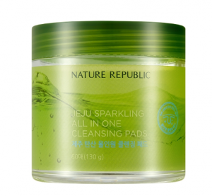 Nature Republic Jeju Sparkling All In One Cleansing Pads 60ea