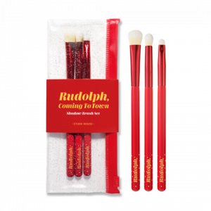 ETUDE HOUSE [Holiday Collection] Rudolph, Coming To Town Shadow Brush Set (3ea)